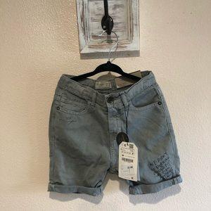 Zara boys size 6 denim shorts NWT